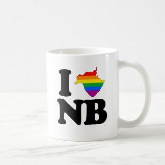 AMO NUEVO BRUNSWICK GAY - .PNG TAZA CLÁSICA