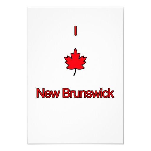 Amo Nuevo Brunswick Anuncio Personalizado