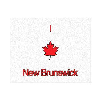 Amo Nuevo Brunswick Impresiones En Lona Estiradas
