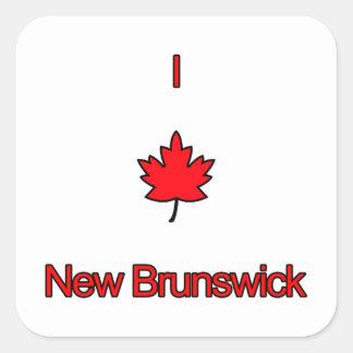 Amo Nuevo Brunswick Pegatinas Cuadradases Personalizadas