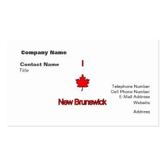 Amo Nuevo Brunswick Tarjetas De Negocios