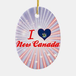 Amo nuevo Canadá, Maine Ornamento De Reyes Magos