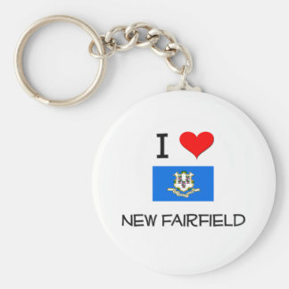 Amo nuevo Fairfield Connecticut Llavero Redondo Tipo Pin
