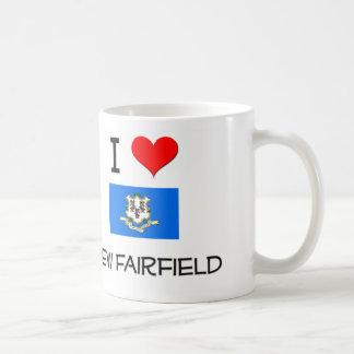 Amo nuevo Fairfield Connecticut Tazas