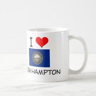 Amo nuevo Hampton New Hampshire Taza Básica Blanca