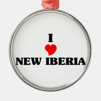 Amo nuevo Iberia Adorno Redondo Plateado