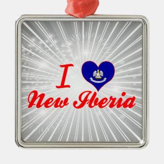 Amo nuevo Iberia, Luisiana Adorno Cuadrado Plateado