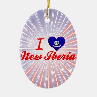 Amo nuevo Iberia, Luisiana Adorno Ovalado De Cerámica