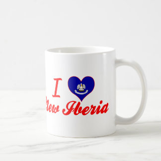 Amo nuevo Iberia, Luisiana Taza Básica Blanca