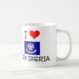 Amo NUEVO IBERIA Luisiana Taza Básica Blanca