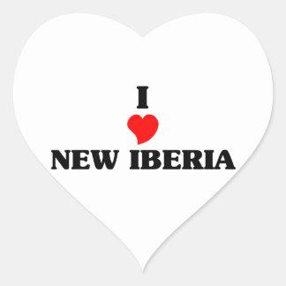 Amo nuevo Iberia Pegatina En Forma De Corazón