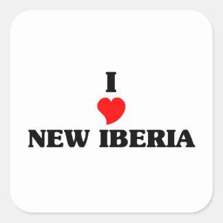 Amo nuevo Iberia Pegatina Cuadrada