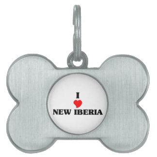 Amo nuevo Iberia Placa De Mascota