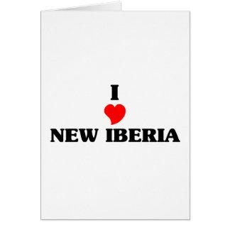 Amo nuevo Iberia Tarjeta De Felicitación