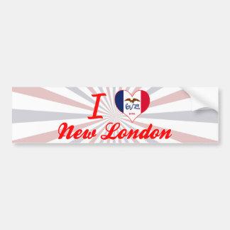 Amo nuevo Londres, Iowa Etiqueta De Parachoque