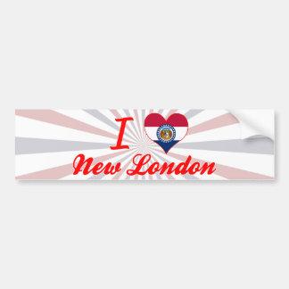 Amo nuevo Londres, Missouri Pegatina De Parachoque