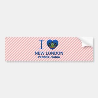 Amo nuevo Londres, PA Pegatina De Parachoque