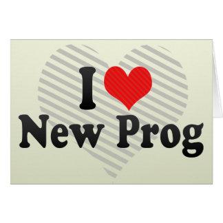 Amo nuevo Prog Tarjeta De Felicitación