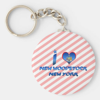 Amo nuevo Woodstock, Nueva York Llavero Personalizado