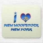 Amo nuevo Woodstock, Nueva York Tapete De Ratones