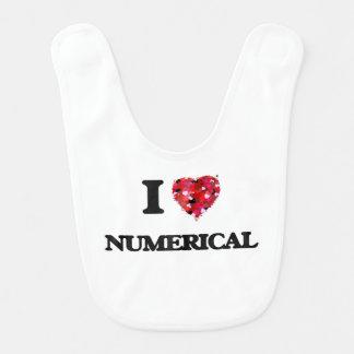 Amo numérico babero de bebé