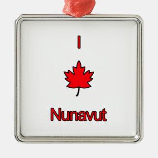 Amo Nunavut Adorno Navideño Cuadrado De Metal