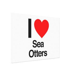 amo nutrias de mar impresiones en lienzo estiradas