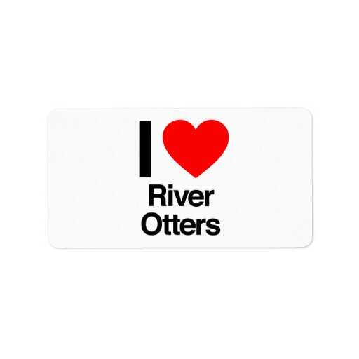 amo nutrias de río etiqueta de dirección