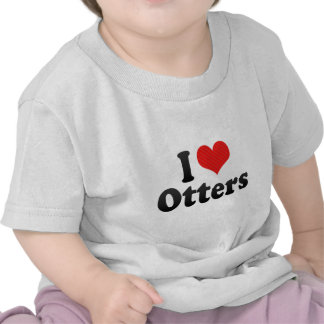 Amo nutrias camiseta