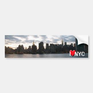 Amo NYC Pegatina Para Auto