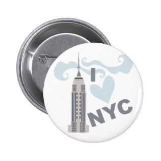 Amo NYC Pin Redondo De 2 Pulgadas