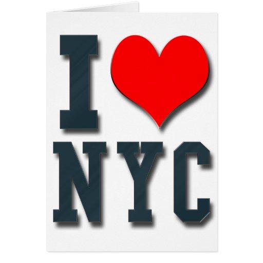 Amo NYC Tarjeta De Felicitación