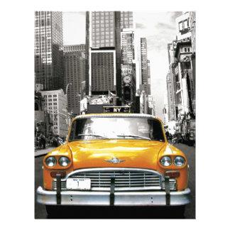 Amo NYC - taxi de Nueva York Plantillas De Membrete