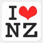 Amo NZ Colcomanias Cuadradas