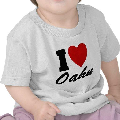 Amo Oahu Camisetas