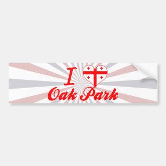 Amo Oak Park Georgia Etiqueta De Parachoque