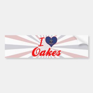 Amo Oakes Dakota del Norte Etiqueta De Parachoque