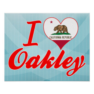 Amo Oakley California Poster
