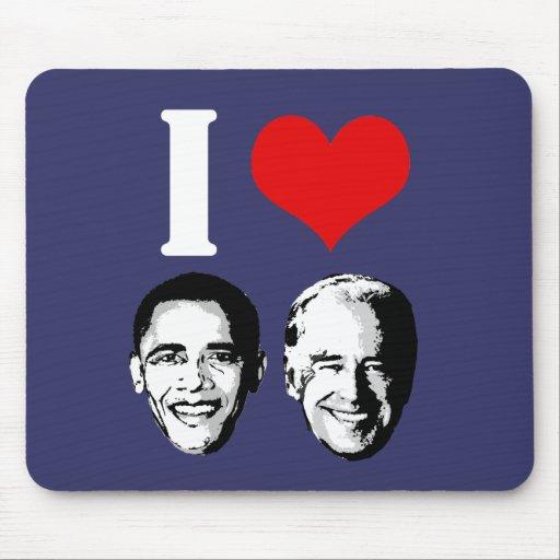 Amo Obama/Biden Alfombrilla De Ratones