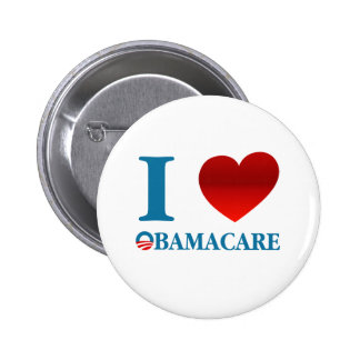 Amo Obamacare Pin Redondo 5 Cm