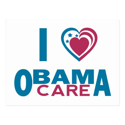 Amo ObamaCare Tarjeta Postal