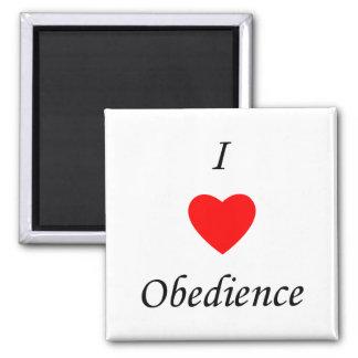 Amo obediencia imán de frigorifico