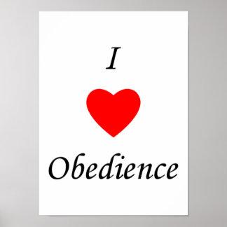 Amo obediencia impresiones