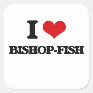 Amo Obispo-pescados Pegatina Cuadrada