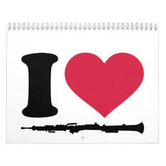 Amo Oboe Calendario De Pared