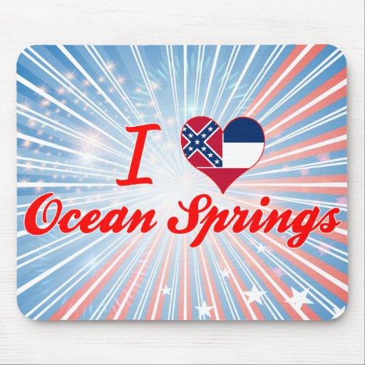 Amo Ocean Springs, Mississippi Alfombrillas De Ratón