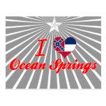 Amo Ocean Springs, Mississippi Tarjeta Postal