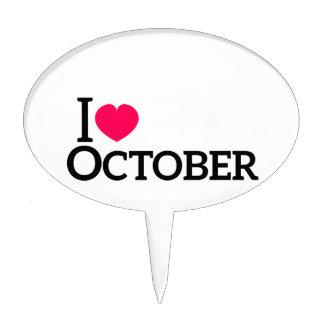 Amo octubre decoración de tarta