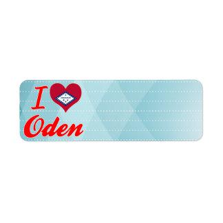 Amo Oden, Arkansas Etiqueta De Remite