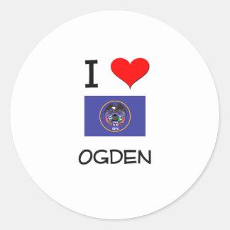 Amo Ogden Utah Pegatina Redonda